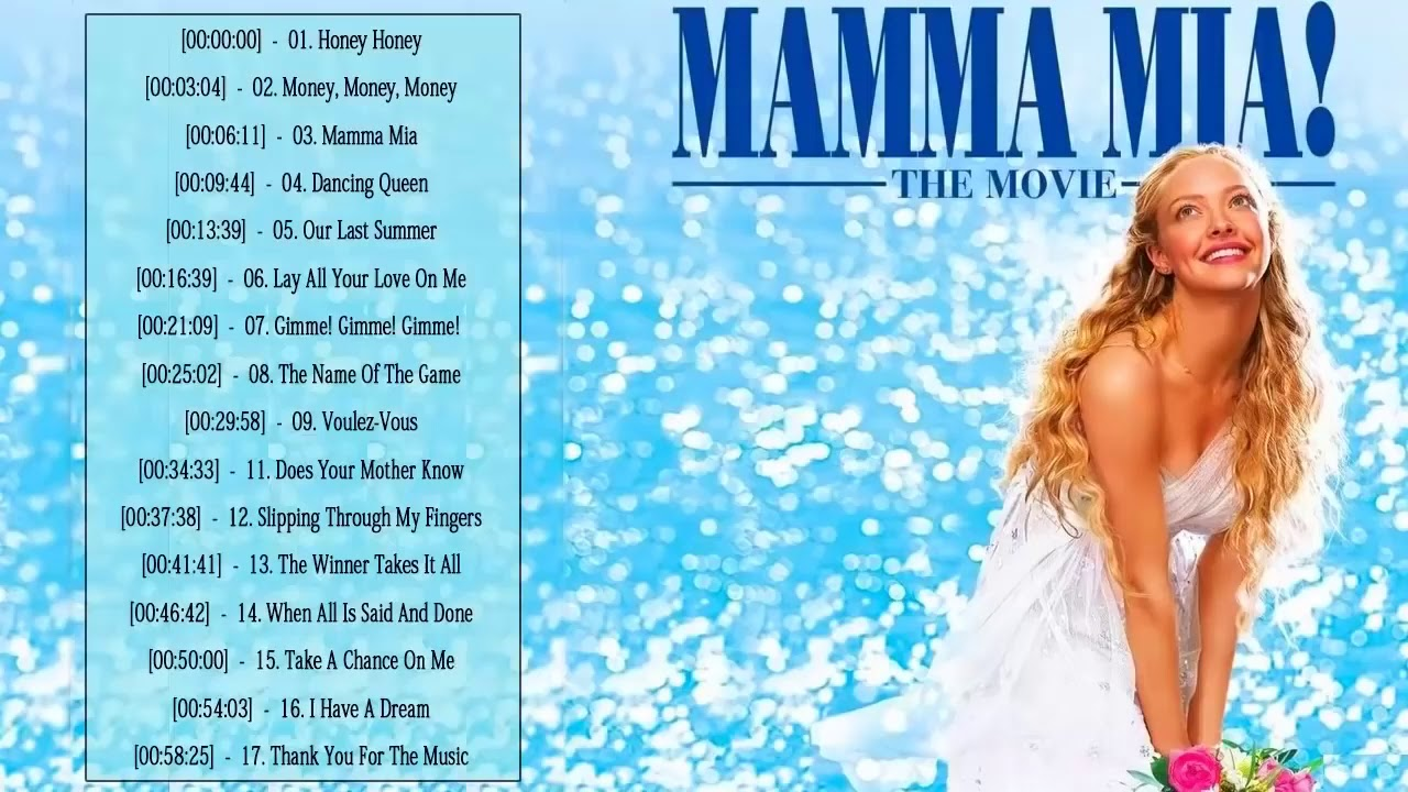 Mamma Mia Soundtrack Mamma Mia Soundtrack Playlist Mamma Mia Album Soundtrack Playlist 2020 Youtube