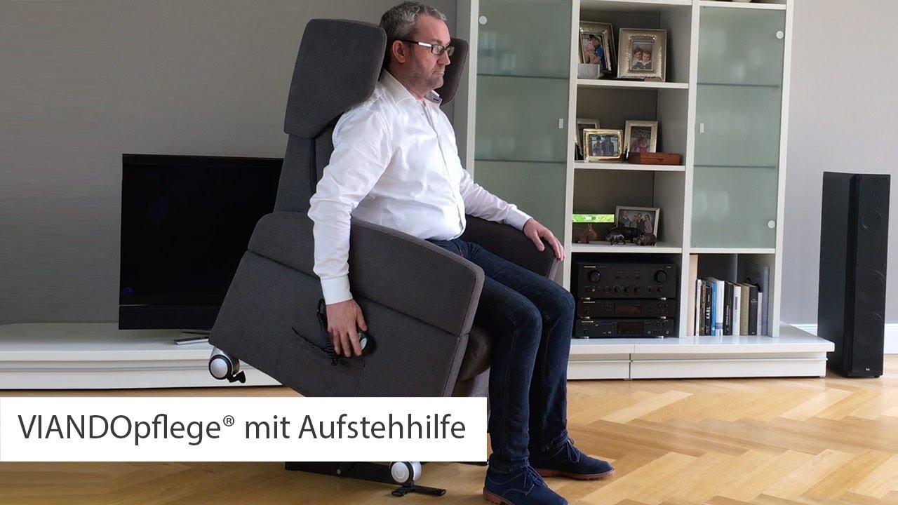 pflegesessel viando mit elektrischer aufstehhilfe motorisch youtube. Black Bedroom Furniture Sets. Home Design Ideas