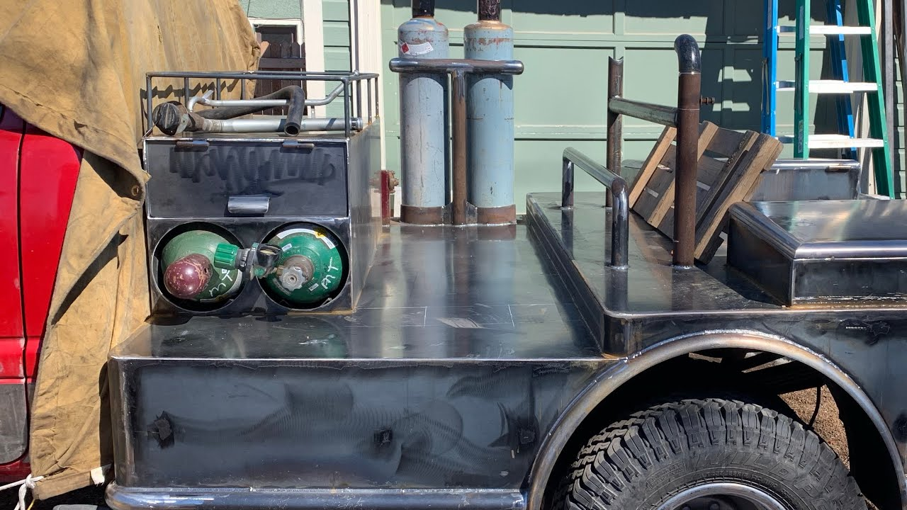 pipeline style bed build part 3 welding the oxygen rack