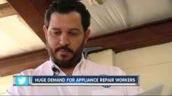 Huge demand for appliance repair workers