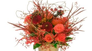 Repeat youtube video Autumn Flowers Hand Tied Bouquet