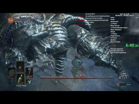 Dark Souls III Boulder Heave Only All Bosses speedrun