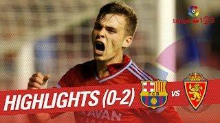 Resumen de FC Barcelona B vs Real Zaragoza (0-2)