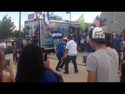 Honduran pride on display before soccer match against Israel in Houston