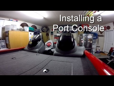 How To Install A Port Console On A 2014 Bass Tracker Pro Team 175