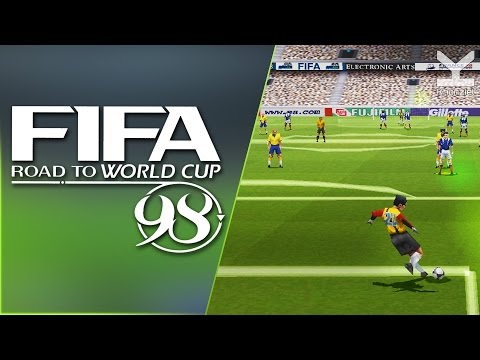 FIFA 98 - Road To World Cup (1997) PlayStation - France Vs Brazil