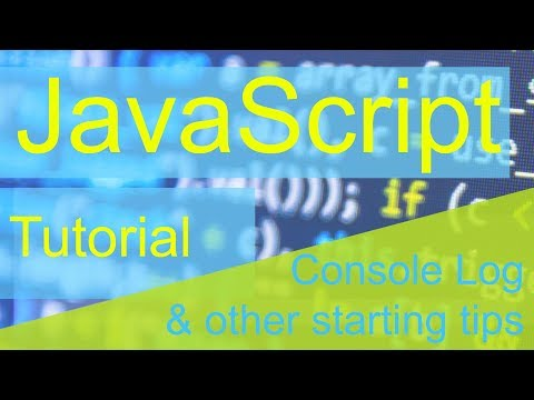 Javascript Tutorial: Ep 1 - Console log & other starting tips thumbnail