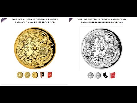 New Coin Of Interest Dragon Phoenix High Relief Proof