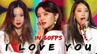 60FPS 1080P | EXID - I Love You, 이엑스아이디 - 알러뷰 Show Music Core 20181201