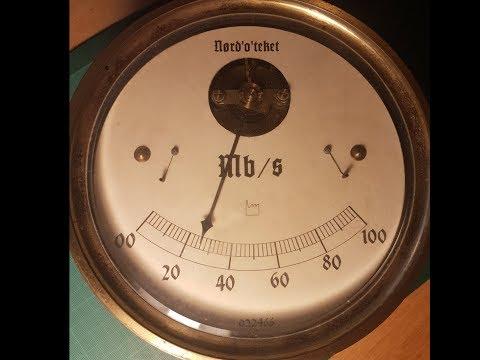 Internet'o'meter: Steampunk måling af din internethastighed
