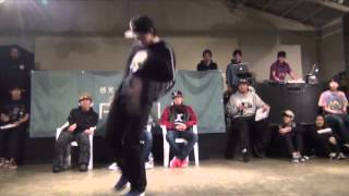 SHUHO (HOUSE OF NINJA)  vs SANTA (BREEZIN) FINAL / DANCE@LIVE HOUSE HOKURIKU 2015