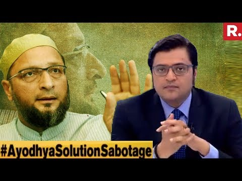 Bid To Sabotage Ayodhya Talks? | The Debate With Arnab Goswa