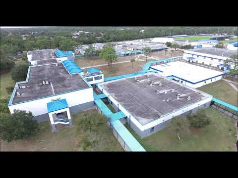 Titusville High School drone view High def