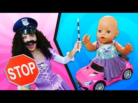 Игры для девочек – Кукла Беби Бон катается на машинке! – Видео с игрушками для детей.