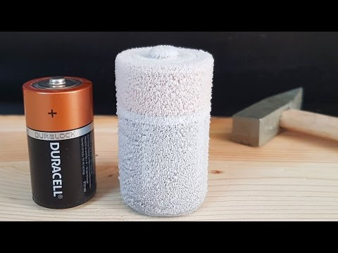 Science Experiment LIQUID NITROGEN vs BATTERY