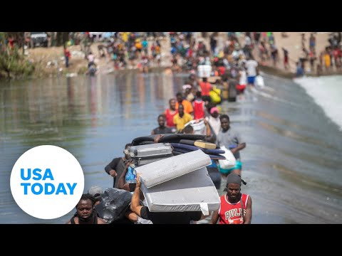 Haitian migrants hope to cross US border at Del Rio, Texas | USA TODAY