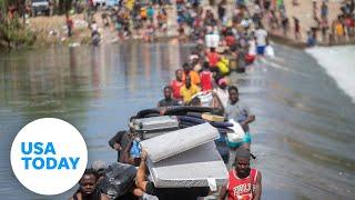 Haitian migrants hope to cross US border at Del Rio, Texas   USA TODAY