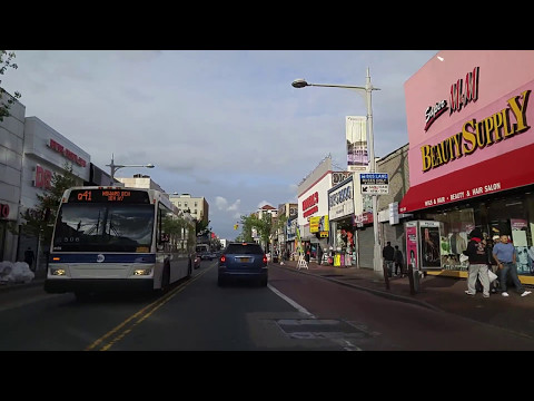 Driving from Kew Gardens to Jamaica Estates in Queens,New York