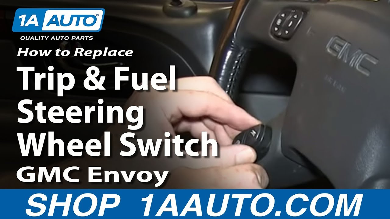 how to install replace trip and fuel steering wheel switch 2002 09 envoy trailblazer youtube 2003 chevy truck radio wiring diagram 2003 chevrolet silverado 1500 radio wiring diagram