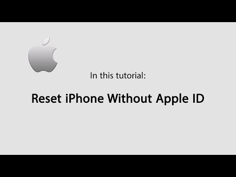 How to Reset iPhone without Apple ID