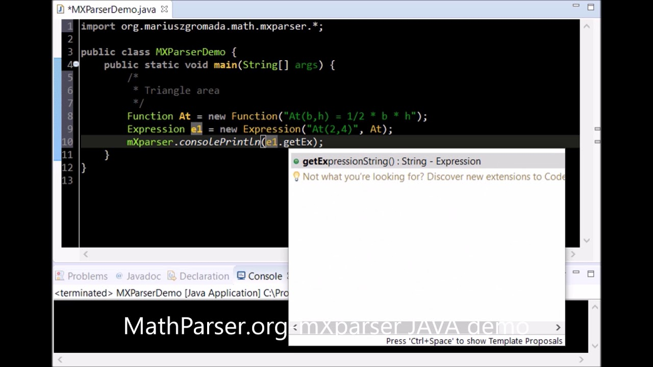 mXparser – Tutorial | mXparser – Math Expressions Parser for JAVA