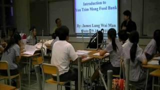 港青基信書院到油尖旺食物銀行做義工:龍緯汶講解運作(拍攝:黃