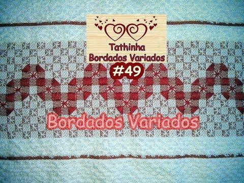 PONTO CRUZ DUPLO COM PONTO CHEIO - Tathinha Bordados #49