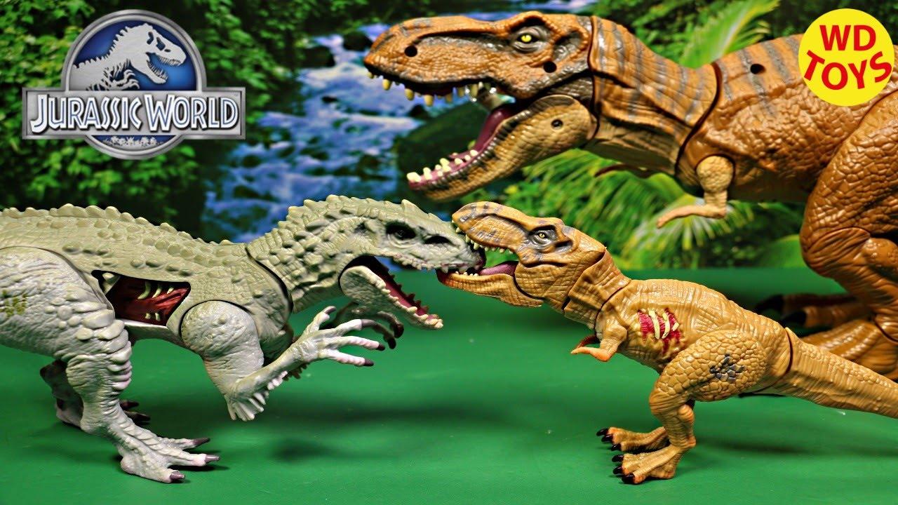 New Jurassic World Bashers Biters Tyrannosaurus Rex 2015 Review Vs