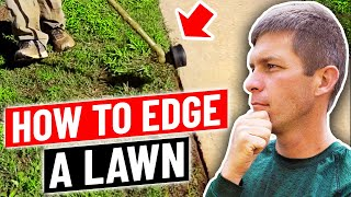 How to edge a lawn with a string trimmer...aka weed eater, weed whacker thumbnail