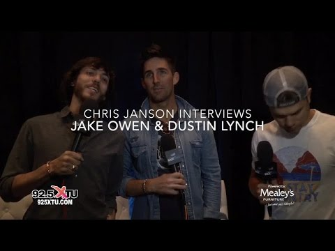 Jake Owen, Dustin Lynch and Chris Janson at the ACM Awards