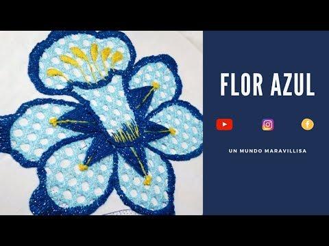 [Puntada Fantas�a] FLOR azul | Un Mundo Maravillisa