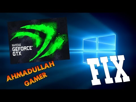 """How To Fix Nvidia Geforce Graphic Problem In Windows 10 """" 100%  Working """" 1080p"""