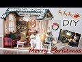 DIY Miniature Dollhouse Kit || Merry Christmas ( with full furniture and light )