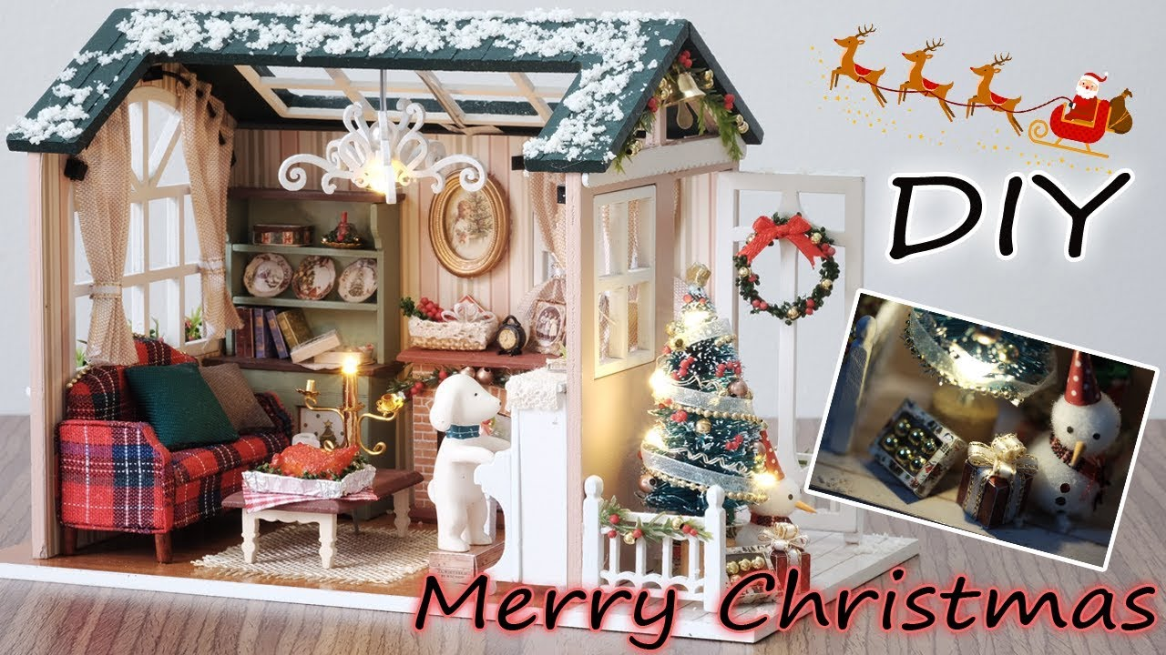 miniature christmas living room
