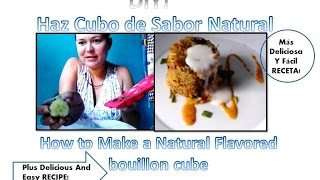 Como hacer cubito,cubo de sabor facil/How to make easy fast bouillon cube,stock,flavored cube DIY Thumbnail