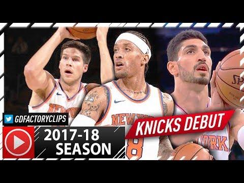 Michael Beasley, Enes Kanter & Doug McDermott Full Highlights vs Nets (2017.10.03) - Knicks Debut!