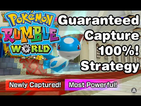 How to catch 100% without fail - Pokemon Rumble World Guide