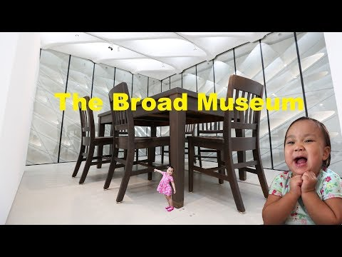 The Broad Contemporary Art Museum Los Angeles Family Fun Family Vlog