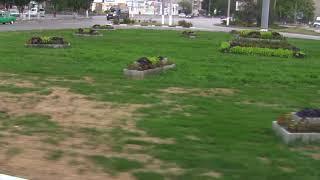 Керчь.Центр -кольцо на автовокзале.Клумбу изваяли в виде кладбища ?!