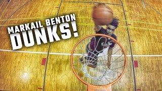 Alabama 4-star LB signee Markail Benton throws down some serious dunks
