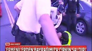 Türk bayrağına sahip çıxan Azərbaycan Türkü.