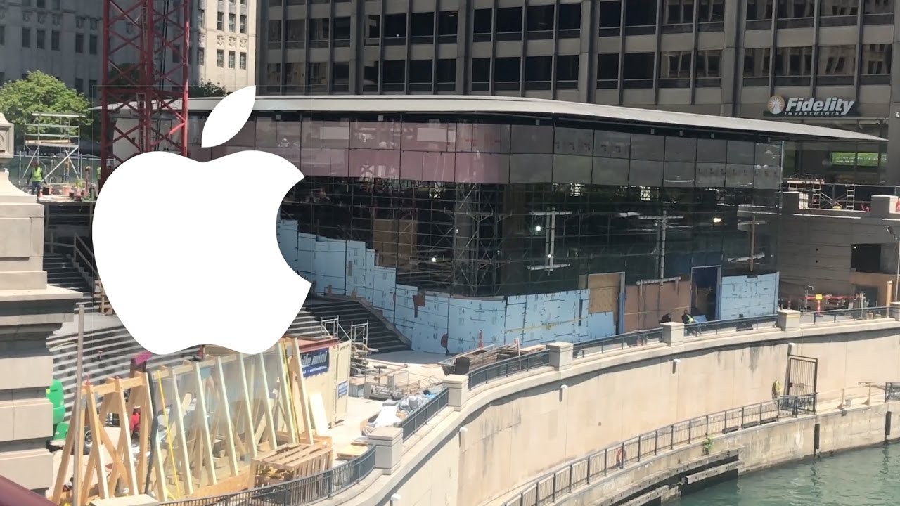 New Apple Store In Chicago YouTube - New apple store in chicago will have a giant macbook as its roof