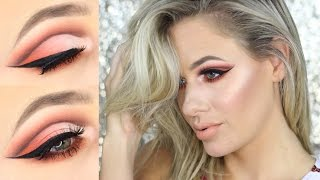 PEACH CUT CREASE (in depth tutorial) | Swiitch Beauty #Slaysfordays & #Glowgasm