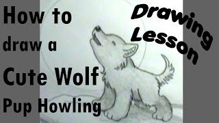 How to draw a Wolfpup howling