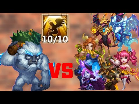 Sasquatch Vs Top Heroes | Castle Clash