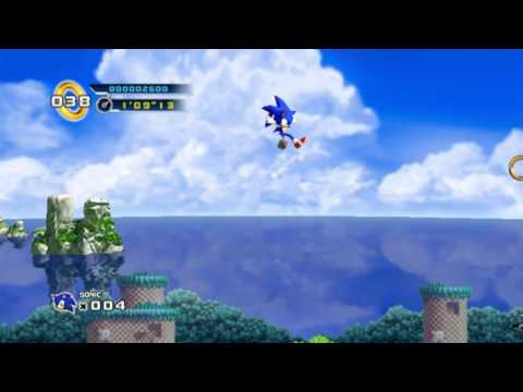 Sonic the Hedgehog 4 episode 1 - Spash Hill Zone - Many 1ups were received! |