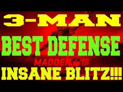 Madden 16 Greatest / Best Nano Blitz Unstoppable Defense How To: 3-MAN!!! Post Patch