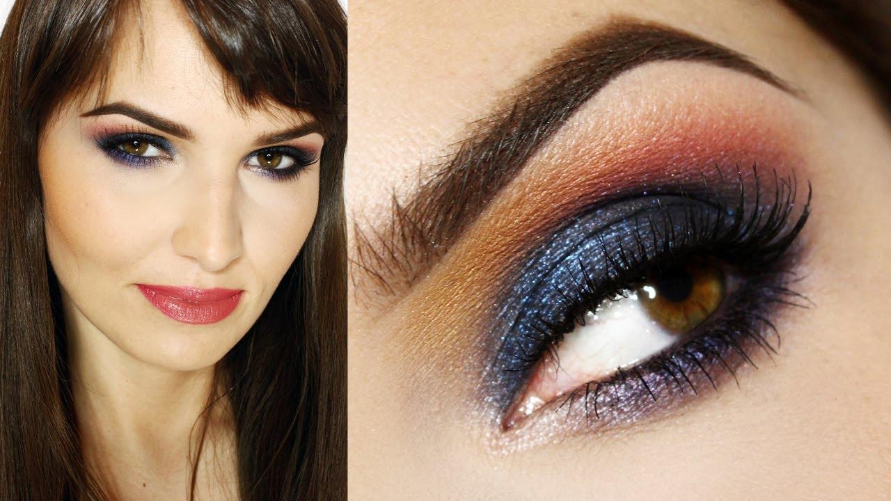 All Night Blue Makijaż Wieczorowy Dla Brązowychpiwnych Oczu I