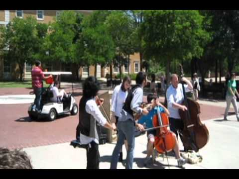Denton Flash Mob - Freeze 2.0 Music Version - Music by Hans Zimmer