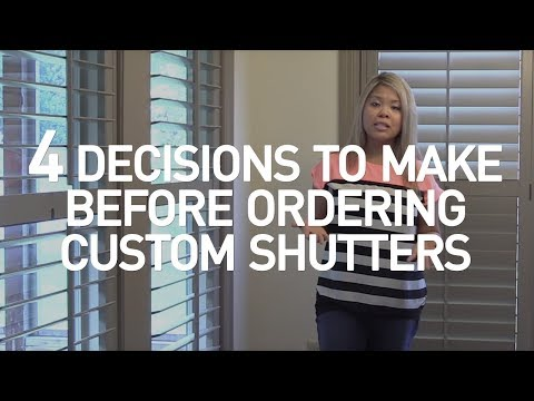 Plantation Shutters | Options Considerations for Custom Inte
